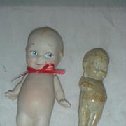 Vintage Kewpie Doll Soap and Jointed Bisque Artist Kewpie Doll