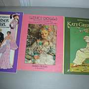 3 Books Lenci Dolls Kate Greenway and Gibson Girl Paper Doll