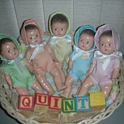 SALE Vintage Set of Madame Alexander Dionne Quintuplet Dolls Quints