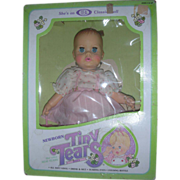 Ideal Tiny Tears Doll NRFB Molded Hair Drink and Wet Doll
