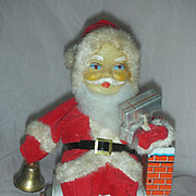 Vintage Battery Operated Santa Claus Christmas Toy