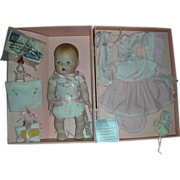 SOLD Tiny Tears Porcelain Doll with Layette Porcelain - Red Tag Sale Item