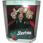 Vintage Happy Holiday Christmas Barbie Doll 1991