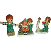 3 Vintage Goebel Red Head Figurines by Charlot Byi