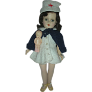 Rare Vintage Mary Hoyer Doll Hard Plastic Red Cross Nurse Doll
