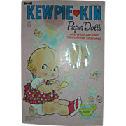 Vintage Kewpie Paper Dolls Book Uncut by Cameo Doll Company 1967