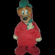 Vintage Huckleberry Hound Friend of Yogi Bear Rubber Face Toy Hanna Barbera Knickerbocker 1959