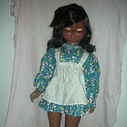 Rare Uneeda Playpal Black Companion Doll 30 inch