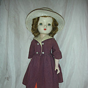 SALE Vintage Madame Alexander Winnie Walker Hard Plastic Doll 1953