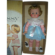 Vintage Ideal Kissy Doll Playpal in Box Large Size in Rare Dress