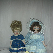 2 Bisque Jointed Doll Artist Dolls