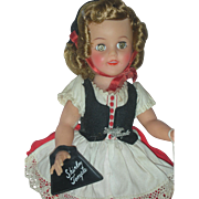 Vintage Ideal Shirley Temple Vinyl Doll All Original with High Color