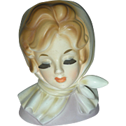 SOLD Vintage Inarco Lady Headvase Planter Doll Head Vase