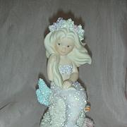 Vintage Enesco Coral Kingdom Athena Mermaid Figurine