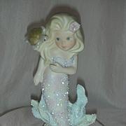 Vintage Enesco Coral Kingdom Sabrina Mermaid Figurine
