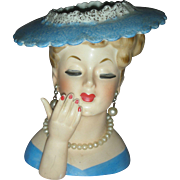 Vintage Napco 1958 Head Vase Planter Lady Headvase