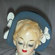 Beautiful Vintage Lady Headvase Head Vase Planter