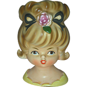 Vintage Inarco Teen Headvase Head Vase Planter