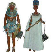 SOLD Peggy Nisbet King Tut and Queen Nefertiti