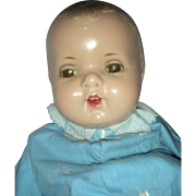 Vintage Large Composition Molded Hair Baby Doll 24 inches
