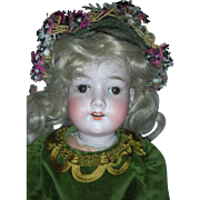 22 Inch Bisque AM 390 Doll with Jointed Composition Body
