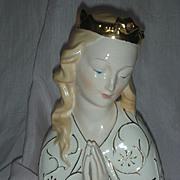 Vintage Mid Century Head Vase Planter Queen