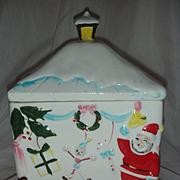 Vintage Christmas Cookie Jar Mid Century Modern Japan Santa