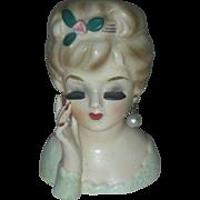 Tiny Vintage Inarco Lady Headvase Planter Head Vase