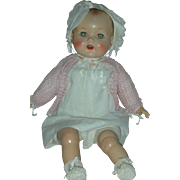 Vintage High Color Molded Hair Baby Doll 26 inch Mama Dolls