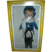 Vintage Effanbee Currier & Ives Skater Doll in Box Christmas Dolls