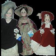 3 Vintage Effanbee Fashion Dolls