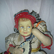 Vintage Joao Perotti Orbis Doll By Former Lenci Designer Cloth Doll Brazil