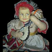 Vintage Joao Perotti Orbis Doll By Former Lenci Designer Cloth Doll Brazil