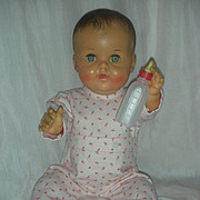 Rare Vintage Constance Bannister Drink and Wet Vinyl Baby Doll