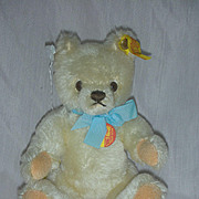 Vintage Steiff 8 inch Small Blonde Bear Germany