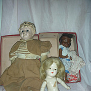 Antique Vintage Dolls to Restore Tin Head Composition