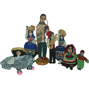 Lot of Vintage Ethic Cloth Dolls