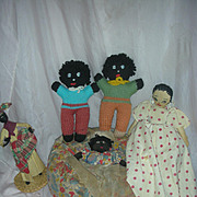 Lot of vintage Ethnic Dolls Cloth folk Art Doll