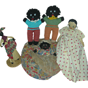 Lot of vintage Ethnic Dolls Cloth folk Art Doll