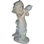 Vintage Enesco Coral Kingdom Mermaid Figurine Aria