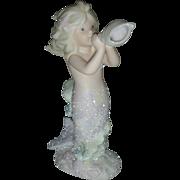 Vintage Enesco Coral Kingdom Mermaid Figurine Aria