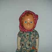 Rare Early Vintage Poor Pitiful Pearl Doll Mask face Stuffed Sawdust body