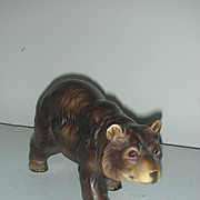 Vintage Mid Century Norlens Brown Bear figurine