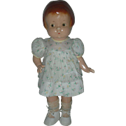Vintage Effanbee 14 inch Painted Eye Composition Patsy Doll in Original Dress