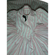 Vintage Madame Alexander Cissy Doll Dress Shirtdress Pink and White Striped Daydress