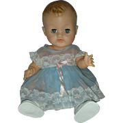 Vintage HTF Molded Hair Ideal Betsy Wetsy Doll Wearing Organdy Dress