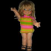 Vintage Ideal 1960s Giggles Doll All Original Works