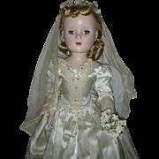 Vintage 1950s Madame Alexander Bride Doll Margaret Face Tagged Dress
