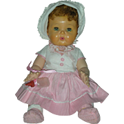 Excellent All Original Vintage Tiny Tears Doll by American Character with Rock A Bye Eyes