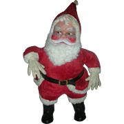 Huge Chubby Vintage 1950s Santa Stuffed Toy Store Display Rubber Face 25 Inch Mid Century ...